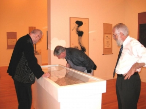 Addiss, Chaves and Richard Waller, Director of Museums for the University of Richmond and curator of the exhibition (l to r)