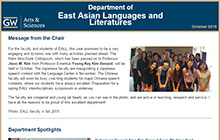 Fall 2015 East Asian Language and Literatures Newsletter